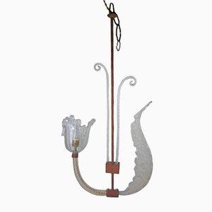 Lámparas colgante vintage de cristal de Murano, años 40