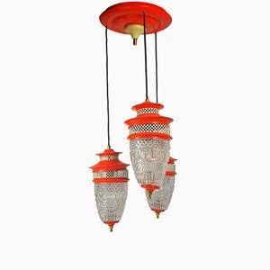 Lámpara colgante Mid-Century Modern, años 70