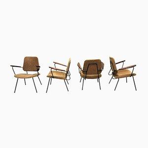 Industrielle Vintage Beistellstühle, 1950er, 4er Set