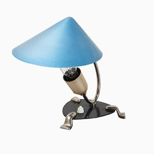 Turquoise Desk Lamps, Set of 2