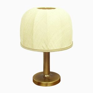 Small Brass & Fabric Desk Lamp, 1970s