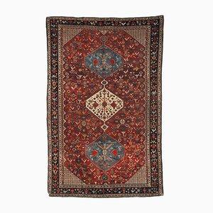 Antique Handmade Khamseh Rug, 1870s