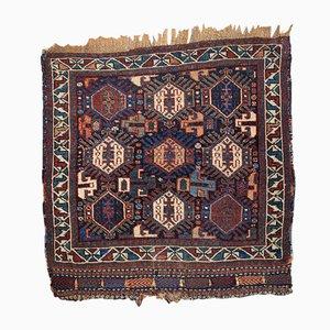 Alfombra de Oriente Medio antigua hecha a mano, década de 1880
