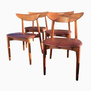 Danish Teak Chairs by Harry Østergaard, 1960s, Set of 4