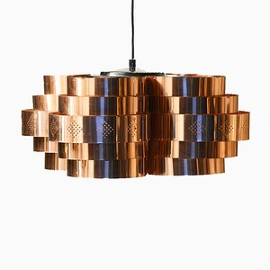 Copper P64 Pendant by Werner Shou for Coronell Electro, 1970s