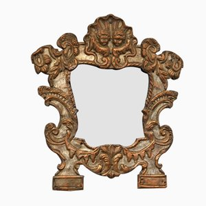 Small Baroque Silver Plated Mirror