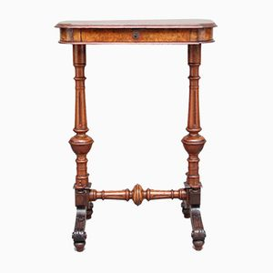 Antique Burr Walnut Side Table