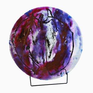 Plato vintage de vidrio de Tróndur Patursson