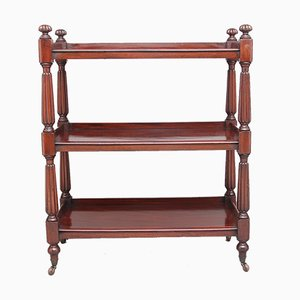 Antique Mahogany Three Tier Trolley