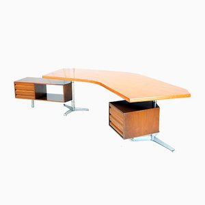 Boomerang T-96 desk by Osvaldo Borsani for Tecno, 1950s
