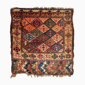 Antiker handgefertigter kurdischer Taschenfront-Sammlerteppich, 1880er