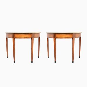 Antique Italian Console Tables, Set of 2