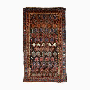 Antique Handmade Kurdish Rug, 1880s