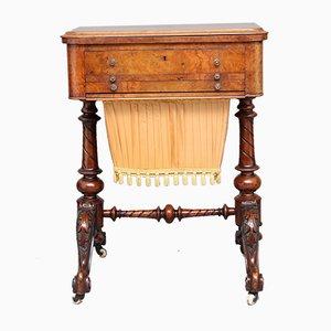 Antique Burr Walnut Games Table