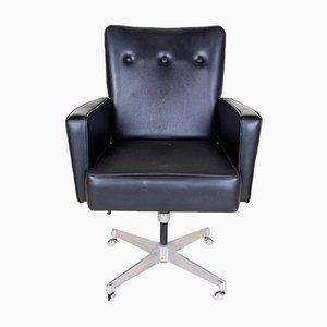 Chaise de Bureau Pivotante Vintage en Chrome