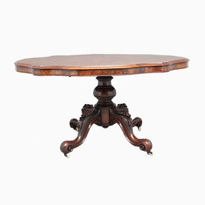 19th Century Victorian Walnut Loo or Breakfast Table