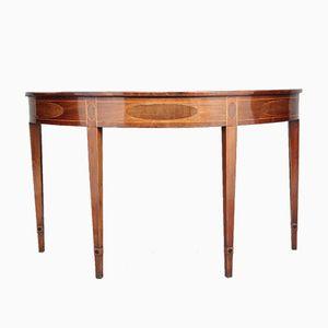 18th Century Mahogany and Inlaid Consul Table