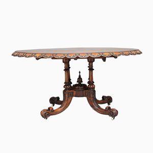 Antique Burr Walnut Round Table