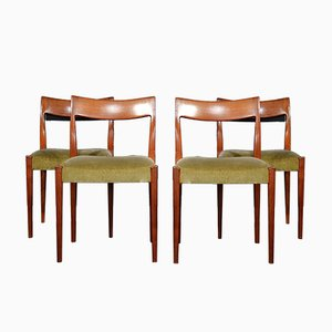Mid-Century Swedish Rosewood Chairs by Nils Jonsson for Troeds, Set of 4