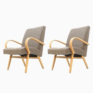Armchairs by Jindřich Halabala, 1960s, Set of 2