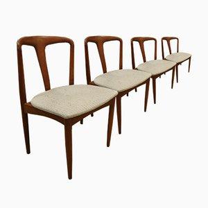 Modell Juliane Esszimmerstühle aus Teak von Johannes Andersen für Uldum Møbelfabrik, 1960er, 4er Set