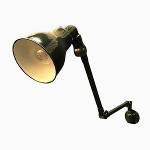 Dunkelgrüne englische Wandlampe von Invisaflex, 1940er