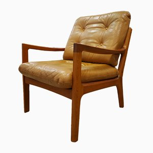 Senator Teak & Leather Armchair by Ole Wanscher for France & Søn, 1960s