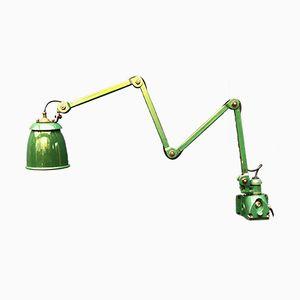 Grüne englische Wandlampe von EDL, 1940er