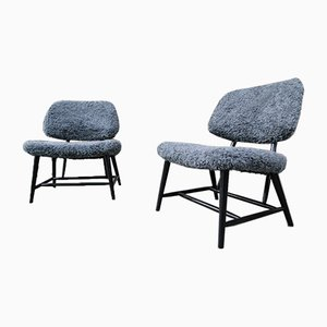 Teve-Chairs by Alf Svensson for Bra Bohag, 1950s, Set of 2