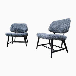 Teve Stühle von Alf Svensson für Bra Bohag, 1950er, 2er Set