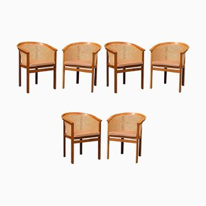 Armchairs by Rud Thygesen & Johnny Sørensen for Botium, 1980s, Set of 6