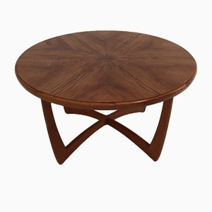 Round Coffee Table with Walnut Veneer, 1955