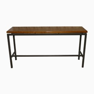 Industrial Wooden Cafe Bench, 1960s