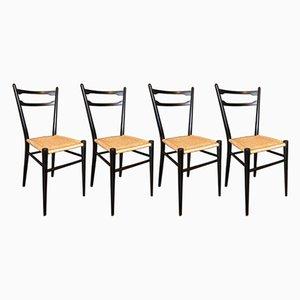 Sedie da pranzo, Italia, anni '60, set di 4