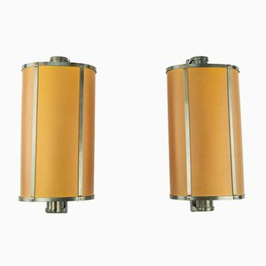 Large Parchment Wall Lights, 1960s, Set of 2