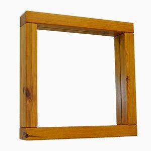Spiegel mit Rahmen aus massivem Pinienholz, 1960er