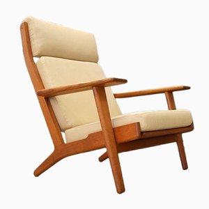 GE290 Sessel aus Eiche von Hans J. Wegner für Getama, 1970er