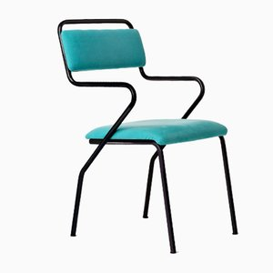 Maestro Chair in Turquoise by Vincenzo Tamborrino for Officine Tamborrino