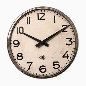 Grande Horloge d'Usine Industrielle de Telefonbau Und Normalzeit, 1970s