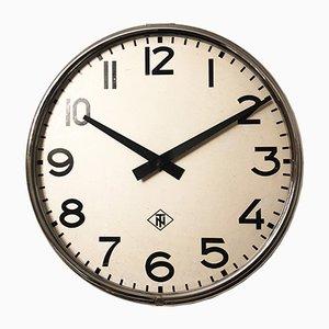 Reloj de fábrica o estación industrial grande de Telefonbau Und Normalzeit