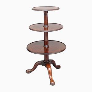 Antique Mahogany Three Tier Table, 1770s