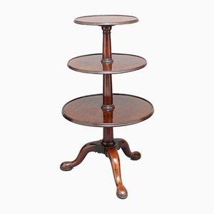 Tavolo antico a 3 ripiani in mogano, fine XVIII secolo