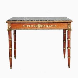 Tavolo in mogano e bronzo dorato, XIX secolo