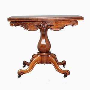 Tavolo da gioco in noce, fine XIX secolo