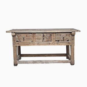 Antique Spanish Console Table, 1640s