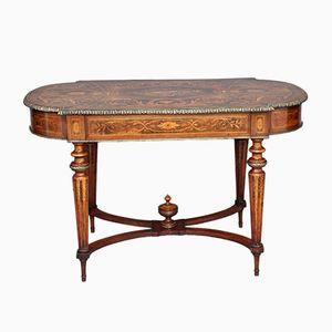 Antiker französischer Tisch aus Nussholz mit Intarsien