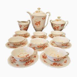 Limoges Porcelain Tea Set from Salmon, 1950s
