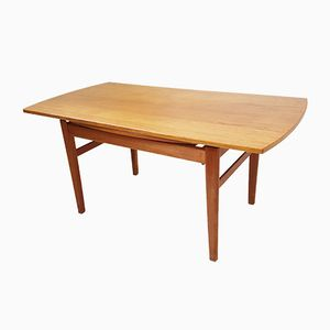 Teak Transformable Sesam Dining Table by Folke Ohlsson for Tingströms, 1960s