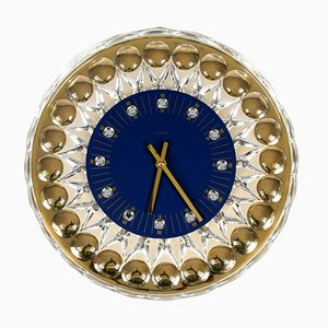 Hollywood Regency Wall Clock by JOSKA-Waldglashütte, 1980s
