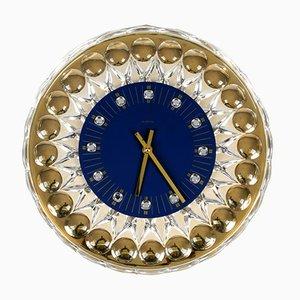 Reloj de pared Hollywood Regency de JOSKA-Waldglashütte, años 80